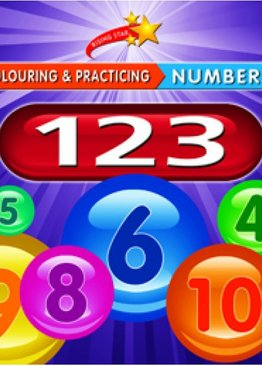 Colour and Practise Numbers 123