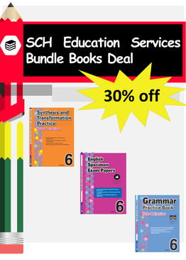 3-in-1 Primary 6  Grammar, Synthesis and Transformation & English Specimen Papers book bundle